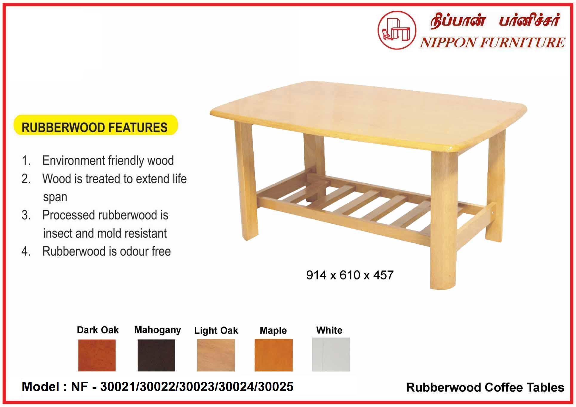 Rubberwood Coffee Table.Nippon Furniture